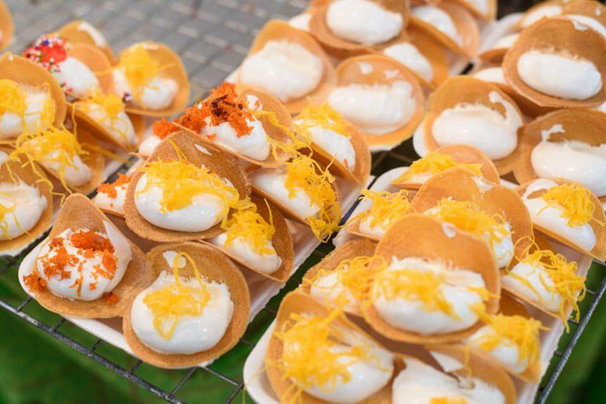 Khanom Buang (Crispy Pancakes)