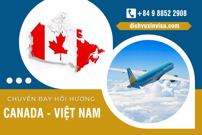 Lịch Chuyến bay hôi hương từ Canada về Việt Nam