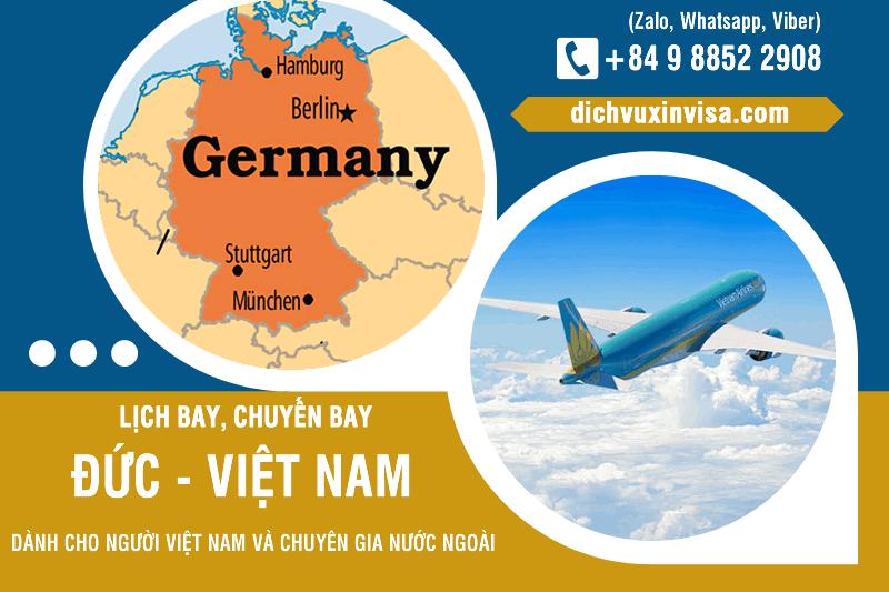 Lịch cuyến bay hồi hương từ Đức về Việt Nam