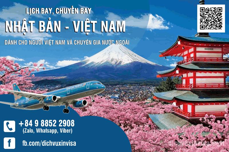 Lịch Chuyến bay từ Nhật Bản về Việt Nam
