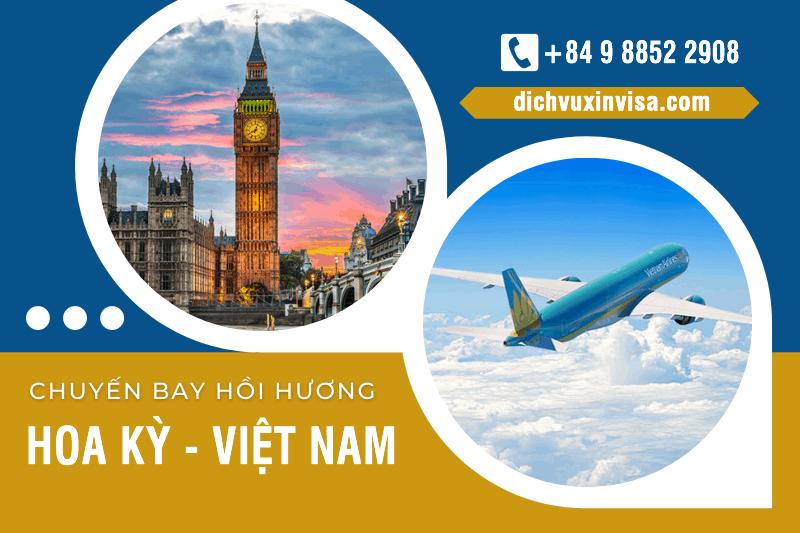 Lịch bay, chuyen bay hồi hương từ Mỹ về Việt Nam