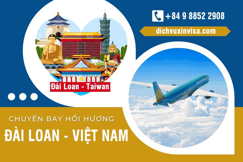Lịch chuyến bay hôi hương từ Đài Loan về Việt Nam